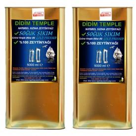 Didim Temple Soğuk Sıkım Erken Hasat Natürel Sızma Zeytinyağı 10 lt Didim